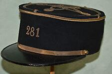 KEPI  DU 281° REGIMENT D'ARTILLERIE LOURDE TRACTEE-1917-FRENCH ARTILLERY KEPY