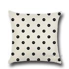 Cotton Linen Throw Black & White Cushion Cover Pillow Case Home Sofa Car Decor