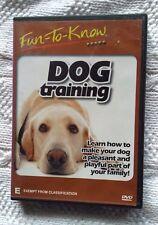 FUN TO KNOW : DOG TRAINING (DVD) REGION- ALL, LIKE NEW, FREE POST IN AUSTRALIA