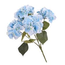 Artificial Flower Hydrangea Bloom Silk Bouquet Party Home Decor White Blue