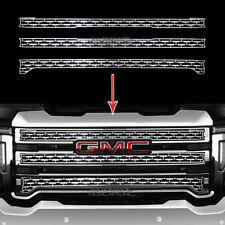 fits GMC Sierra 2500 3500 HD 20-21 CHROME Snap On Grille Overlay Covers Inserts