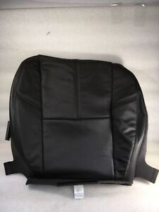 CADILLAC ESCALADE BLACK LEATHER BOTTOM SEAT COVER 2007-2014 NEW OEM GM  20779849