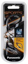 Panasonic Water-Resistant Sports Clip Earbud Headphones RP-HS34-K - Black
