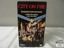 City On Fire VHS Henry Fonda, Ava Gardner, Leslie Nielsen; Embassy Home Video