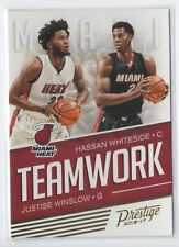 New listing 2016-17 Prestige Teamwork #9 Hassan Whiteside - Miami Heat & Justise Winslow - M
