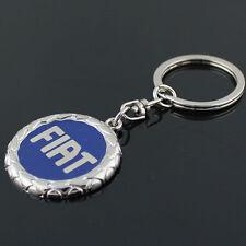 Car Logos Titanium Key Chain Car Keychain Ring Keyfob Metal Keyrings for FIAT