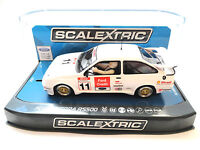 "Scalextric ""Ford Credit"" Ford Sierra RS500 PCR DPR W/ Lights 1/32 Slot Car C3781"