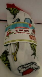 Dr. Seuss THE GRINCH PJ's Pets Dog Christmas Sweater Holiday Large Winter White
