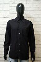 LACOSTE Uomo Camicia Manica Lunga Camicetta Taglia 41 XL Maglia Shirt Man Hemd