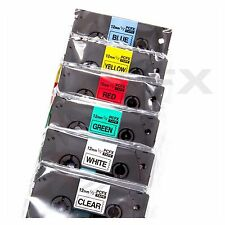 6 Pack MultiColor Premium BROTHER COMPATBLE TZ131 TZ231 TZ431 TZ531 TZ631 TZ731