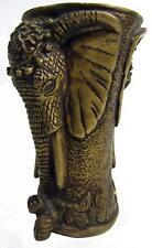 "Double Elephant Head Brass Vase 1.5 kg 14 cm / 5½"" High"