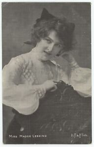 Stage And Silent Movie Actress Madge Lessing Photo Postcard