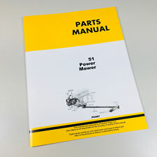 Parts Manual Catalog For John Deere 51 Power Mower Sickle Bar Hay