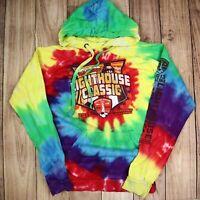 Vintage Tie Dye Hoodie Spell Out Music Festival Hipster Hoodie Rainbow