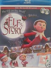 ELF ON THE SHELF PRESENTS AN ELF'S STORY DVD & BLUE RAY 3 D CONTENT NEW SEALED