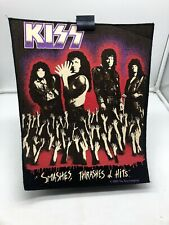 More details for vintage 80s 90s original rock metal back patch kiss smashes thrashes and hits 89