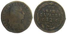 *TRIU* NAPOLI Ferdinando IV  GRANO CAVALLI 12  1790 in rame