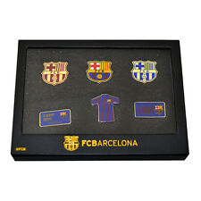 FC BARCELONA 6 PIECE BADGE SET CLUB ENAMEL CREST PIN FOOTBALL CLUB NEW GIFT XMAS