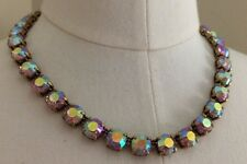 J.Crew EMERALD-COLORED CRYSTAL NECKLACE Iridescent Sparkly Dress Jewelry $88