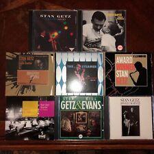 "Stan Getz: 8CD Roulette, Verve, ""Jazz in Paris"" LOT"