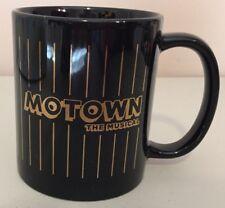 """MOTOWN The Movie Black & Gold ceramic coffee MUG 3.75""""H"""