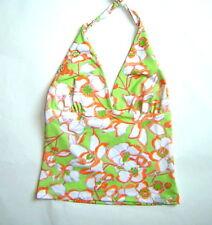 Neckholdertop Top Necktop Gr.36 grün orange Bogner Top  Damen Muster