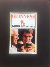 GUINNESS Advertising Advert Man Cave Vintage Retro Bar Pub Mounted Repro