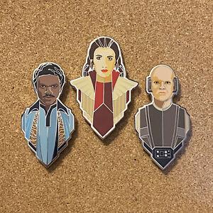 Star Wars Celebration 2020 Bespin Pin Set Leia Lando Lobot