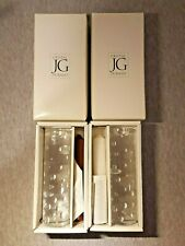 JG Durand Cristal Crystal Batik Celebration Candle Holders Never Used with Box
