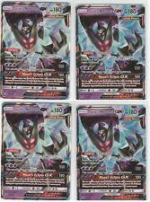 4x LOT Pokemon Sun &] Moon ULTRA PRISM Gx Rare Holo DAWN WINGS NECROZMA 63/156