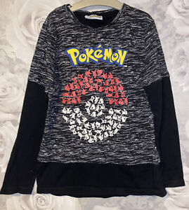 Boys Age 9-10 Years - Pokemon Long Sleeved Top