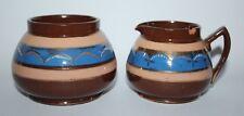 Antique Copper Lustre Ware - Milk Jug & Sugar Bowl