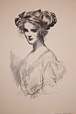 GIBSON GIRL 1909 COLLIER'S MAGAZINE ARTISTS' PROOF No. 7 The Debutante