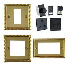 G&H Monarch Roped Polished Brass Euro Data Plates & Black DataGrid Module Insert