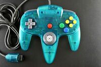 OEM N64 Controller Ice Blue Clear Japan Tested Working Nintendo 64 TIGHT STICK