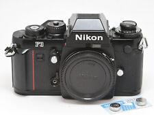 Nikon F3 35mm Film SLR Black Camera Body + DE-2 Finder, Made in Japan