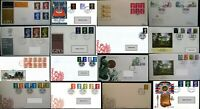 GB FDC 1966 - 2020 First Day Covers Definitive Regional Multi List from 99p