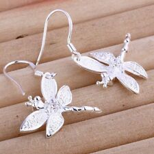 ASAMO Ladies Earrings Dragonfly Earrings 925 Sterling Silver Plated O1009