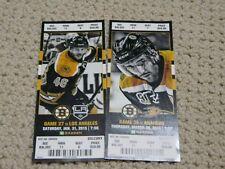 Boston Bruins 2015 ticket stubs David Krejci Patrice Bergeron  Lot of 2