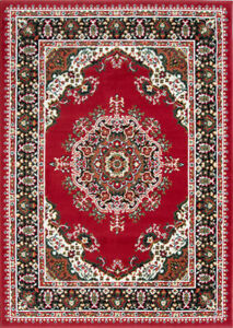 Red Traditional Rugs Medallion Living Room Rug Small Large Rugs Hallway Runners