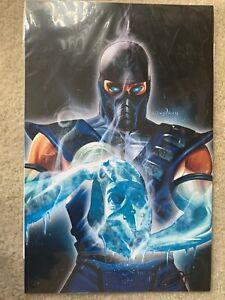Greg Horn Signed Sub Zero 11x17 Lithograph Poster Print Mortal Kombat