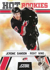 10/11 SCORE HOT ROOKIE RC #515 JEROME SAMSON HURRICANES *3461