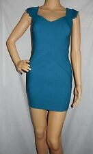 """PARADISCO"" - Good PreOwned - Size 8 - ""TEAL"" Mini Sleeveless Bodycon Dress"