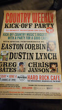 Easton Corbin Dustin Lynch Country Weekly Kick-Off Party Promo  Poster