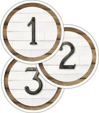 CD 120542 Industrial Chic Rustic Student Number Labels Classroom Decorations