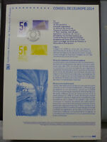 2014 FRANCE COUNCIL OF EUROPE FIRST DAY OF ISSUE STAMP SHEET