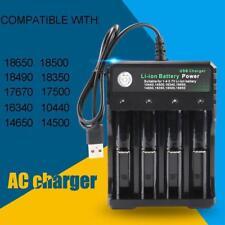 4 Slot Intelligent Vape Battery Charger 18650 18350 Li-ion Ni-Mh AA AAA