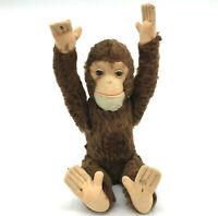 Schuco Tricky Monkey Yes No Chimp Mohair Plush 35cm 14in 1950s Glass Eyes Vtg