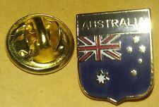 Australia  Flag Shield Pin Badge union jack Commonwealth Aussie Australian