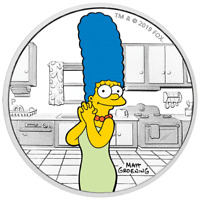 2019 The Simpsons – Marge 1oz Silver Proof Coin